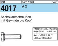 ISO4017 M22x65