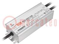Tápegység: impulzusos; LED; 60W; 24VDC; 2,5A; 90÷305VAC; 127÷431VDC