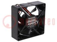 Ventilateur: DC; axial; 12VDC; 80x80x25mm; 65,4m3/h; 32,5dBA; 24AWG