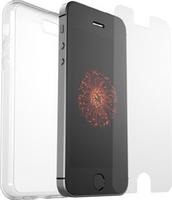 OtterBox Clearly Protected Skin mit AlphaGlass voor Apple iPhone 5/5S/SE - beschermhoesje + Gehard glazen screenprotector
