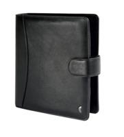 Chronoplan Standard A5 Compact, Vollrindleder, schwarz, m. Verschlusslasche