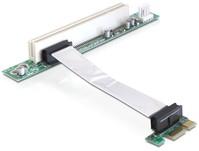 Riser Karte PCI Express x1 an PCI 32Bit 5V mit flexiblem Kabel 9cm nach links gerichtet, Delock® [41856]