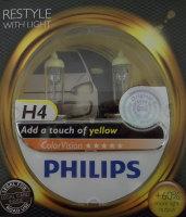 Produktabbildung - Philips 2 Stück H4 gelb 12342 Autolampe Scheinwerfer Birne bis 60% mehr Licht
