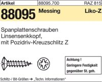 Spanplattenschrauben 4x30-Z