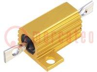 Resistor: bobinado; con radiador; atornillado; 1kΩ; 10W; ±5%
