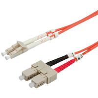 VALUE LWL-Kabel 62,5/125µm LC/SC, OM1, orange, 1,0 m
