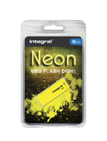 USB-STICK INTEGRAL FD 16GB NEON GEEL