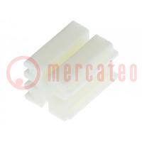 Distanční podložka; LED; ØLED: 3mm; Dl: 7mm; přírodní; UL94V-2