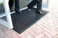COBA Ramp Entrance Scraper Mat Rubber Hard-wearing W900xD1500mm Black Mat Ref RP010001