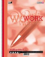 """Collegeblock """"WORK"""" A4-80 kar/Rd ECF"""