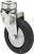 Produkt Bild von Lenkrolle Stahl Rückenloch 60mm Rad Electr.Leitfähiges Schwarz Elastic Gummi. Traglast 55 Kg