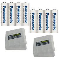 Panasonic Eneloop Inoltre AA / AA / LR6 ottavo incl. 2x pezzi AccuPower contenitore di batteria