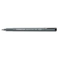 STAEDTLER Feutre pointe calibrée baguée métal 0,8mm, encre noire pigmentée infalsifiable résiste aux UV