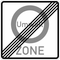 Modellbeispiel: VZ Nr. 270.2, (Ende einer Umwelt-Zone)