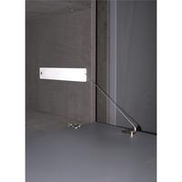 Produktbild zu Bremsklappenhalter Winch 10 mit Stahlseil LI, KH 200-480, Aluminium/KS grau