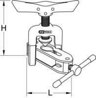 Universal-Bördelgerät mit Schnellspannvorrichtung
