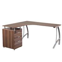 Eckschreibtisch Schreibtisch Computertisch Castor Mit Stand