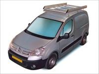 Dachgepäckträger aus Aluminium für Citroen Berlingo, Bj. ab 2008, Radstand 2728mm, kurze Version (L1), mit Heckklappe, ohne Dachklappe