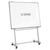 BI-OFFICE Piètement mobile Gris en aluminium L90 x H70 cm, pour tableaux Blancs jusqu'à 150 x 100 cm