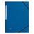 5 ETOILES Chemise 3 rabats monobloc � �lastique en carte lustr�e 5/10e, 390g. Coloris bleu fonc�.