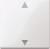 Funk-Rollladentaster CONNECT mit Sensoranschluss, polarweiß glänzend, System M