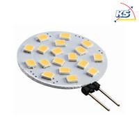 LED Leuchtmittel G4, 2,5W, 2700K, warmweiß, 200lm, flach-runde Form