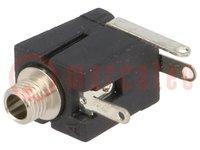 Conector hembra; Jack 2,5mm; hembra; mono; con interruptor