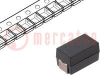 Capacitor: polymer; 47uF; 6.3VDC; Case: V; 2917; ESR:28mΩ; A700; SMD