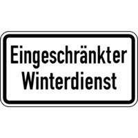 Modellbeispiel: VZ Nr. 2008, (Eingeschränkter Winterdienst)