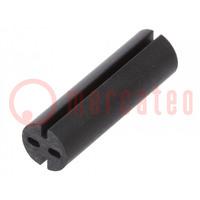 Distanční podložka; LED; Øprům: 5,1mm; ØLED: 5mm; Dl: 17mm; černá