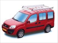 Dachgepäckträger aus Aluminium für Fiat Doblo, Bj. 2001-2010, Radstand 2566mm, Normaldach, mit Heckklappe