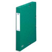 ELBA Boîte de classement EUROFOLIO carte lustrée, dos 4 cm, fermeture élastique, 24x32 cm, coloris vert