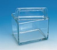Glaskasten f. Färbegestelle 105x85x80 mm