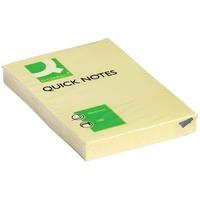 Bloček samolepicí Q-Connect QUICK, 51 x 76 mm, žlutý, 100 listů