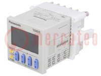 Časové relé; Rozsah:0,001s÷999,9h; SPDT; 100÷240VAC; na panel