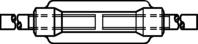DIN 1480 Spannschlossmuttern mit 2 Anschweißenden zn M10mm