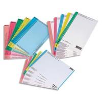 OBLIQUE AZ Sachet de 10 planches d'étiquettes pour dossiers armoire rose