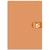 5 ETOILES Bloc agrafé en-tête 160 pages non perforées 80g 5x5 format 10,5x14,8 (A6) Couverture orange