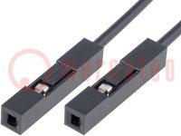 Csatlakozó vezeték; PIN:1; 250mm; Szín: fekete; db:10