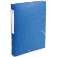 EXACOMPTA Boîte de classement dos 4 cm, en carte lustrée 7/10e coloris bleu