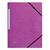 5 ETOILES Chemise 3 rabats monobloc à élastique en carte lustrée 5/10e, 390g. Coloris violet.