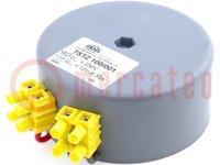 Transformator: Ringkern; 100VA; 230VAC; 12V; 8,33A; 1,4kg; Ø:95mm
