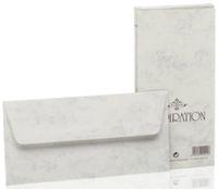 20 Briefumschläge Marmorpapier grau C6 Kuvert Briefumschlag marmoriert gefüttert