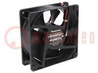 Fan: DC; axial; 24VDC; 120x120x38mm; 165m3/h; 41dBA; ball bearing