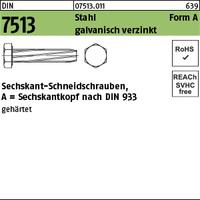 DIN 7513 Stahl A M 5 x 30 galv. verzinkt gal Zn S