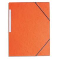 5 ETOILES Chemise simple à élastique en carte lustrée 5/10eme 390g. Coloris orange. Dimensions 24x32cm