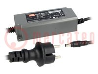 Tápegység: impulzusos; LED; 63W; 42VDC; 1,5A; 90÷264VAC; 127÷370VDC