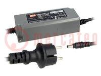 Tápegység: impulzusos; LED; 60W; 20VDC; 3A; 90÷264VAC; 127÷370VDC