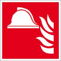 Brandschutzschild, Alu, nachl., Mittel u. Geräte zur Brandbekämpfung, 20x20 cm