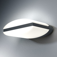 OSRAM 4058075033337 A++ to A LED Wand-Außenleuchte, Endura Style Ellipse, 3000K, Aluminium, 12.5 W, warmweiß, 16.1 x 18.6 x 7.5 cm